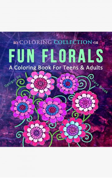 Fun Florals Coloring Book by Vera Brook