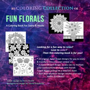 Fun Florals by Vera Brook back cover