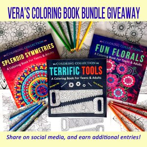Coloring Book Bundle Giveaway by Vera Brook square